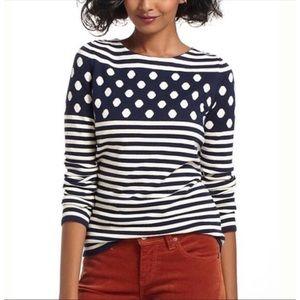 Anthropologie Sparrow Stripes & Dot Sweater, small